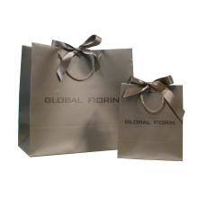 Sacs à provisions en papier avec poignée de ruban PP pour emballage