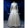 Реальная картина с длинным рукавом мусульманских свадебные свадебное платье