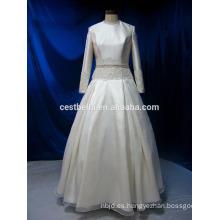 Vestido de boda nupcial musulmán de la manga larga de la imagen verdadera