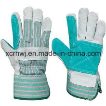 Kurze Schweißhandschuhe, Sicherheits-Arbeitshandschuhe, 10,5''patched Palm Leder Handschuhe, verstärkte Palme Leder Arbeitshandschuhe, Treiber Handschuhe Hersteller