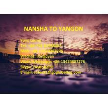 Guangzhou Nansha Sea Freight to Burma Yangon