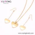 S-411 Xuping joyas al por mayor golden 2 gram gold necklace set+dubai gold jewellery designs woman set