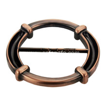 Round shape plated copper belt buckle for promotion