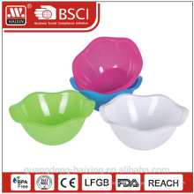 Flower plastic salad bowl