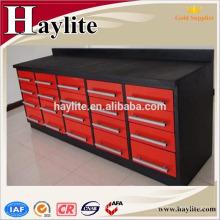 herramientas de banco de trabajo de acero rojo