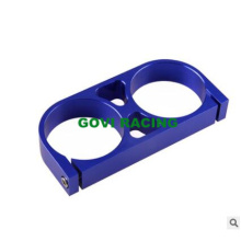 60m Universal Double Fuel Pump Bracket Clamp Mount Wit Aluminum
