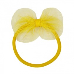 Custom diameter elastic loop bow for hair