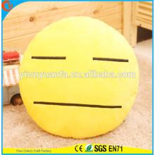 Hot Selling Novelty Design Amarelo Cute Emoticon Emoji Facial Expression Plush Pillow