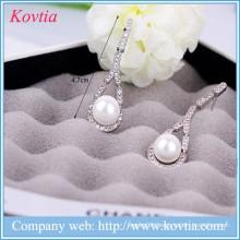 Pearl findings for jewelry making imitation pearl earrings drop earrings woman