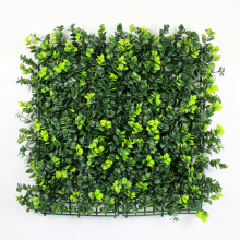 PE material green artificial boxwood hedge mat for home garden