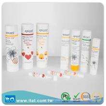 Amostra grátis de pasta de dentes vazia de lábio labial de cilindro de tubo de mangueira cosmética livre de BPA