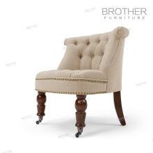 Style européen simple beau salon une chaise en tissu relaxant chaise avec haute aile arrière