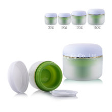 100g Clear Matte Finish Round PP Double Wall Cosmetic Jar