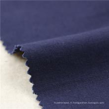 21x21 + 70D / 140x74 264gsm 144cm deep sea blue double coton stretch twill 2 / 2S costume pour femme tissu spandex tissu brossé