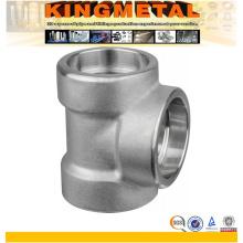 Geschmiedete Stahlrohrfittings-Einfaßungs-Schweiß-T-Stück der Stärke-3000lbs