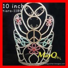 Colorido grande coroa de representação de cristal alto para Halloween