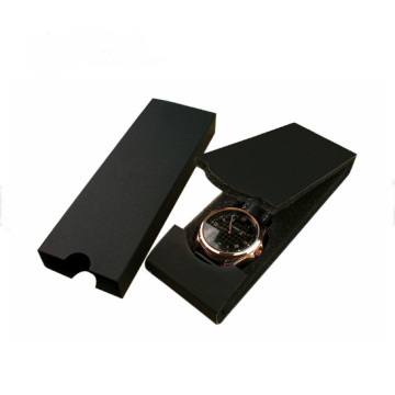 Grosir Lipat Black Paper Watch Packaging Box