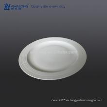 Placa caliente de la porcelana de la venta de la pulgada 10, placa fina de la impresión del hueso fino