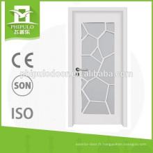 Porte intérieure en bois de haute qualité avec verre