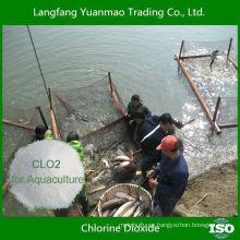 Desinfectante altamente considerado en polvo de dióxido de cloro para la desinfección de la acuicultura