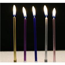 Metallic Gold Glitter Birthday Cake Candle Set