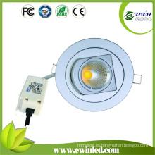 Tamaño de corte 110mm COB LED giratorio Downlight con 3 años de garantía