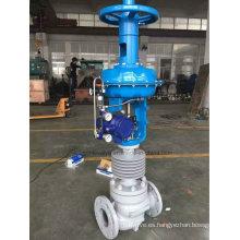 Válvula de control de flujo neumático de alta temperatura ((ZJHM)