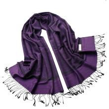 Écharpe Paisley le plus vendue Élevé Jaquard Femme Long Hijab Wrap Ladies Tippet