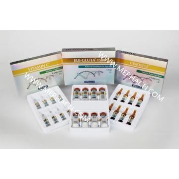 Glutationa + Vitamina C + Injeção Cindelle 8 + 8 + 8 para branqueamento e iluminação da pele