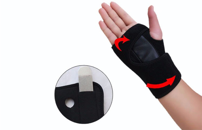 Orthotics tyvek leather wrist support for men