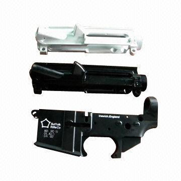 Stripped Lower Receiver with Hard Anodizing, Full Auto, Engraving Logo, Smooth Surface