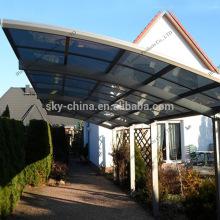 Outdoor polycarbonate roofing aluminium carport garage for car park