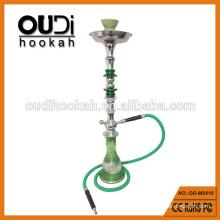 Schöne grüne Flasche Kristall Metall Stiel Huka Glas