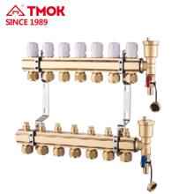 Verteiler für unterirdische Heizungsanlage bei kaltem Wetter manuell oder automatisch verwenden
