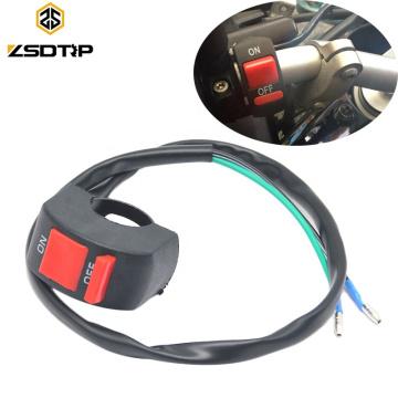 12V ENCENDIDO APAGADO Motocicleta Conector Conmutador Botón pulsador Interruptor de manillar Bala para LED Faros antiniebla Luz