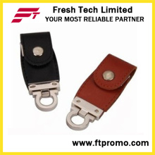 Novo design de couro estilo USB Flash Drive