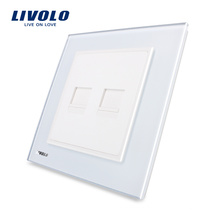 Livolo UK Standard Telephone & Computer(TEL,COM) Wall Socket VL-W292TC-11