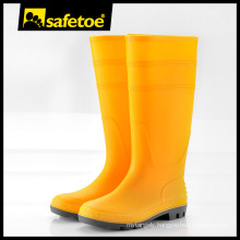 Yellow ankle women rain boots, pvc gumboots yellow, long pvc boots W-6036Y