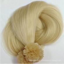 Prebonded Hair Double Drawn Italy Keratin Extensión de cabello de punta plana para revendedor