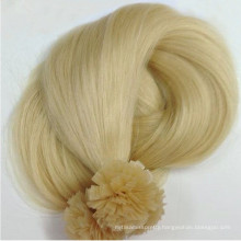 factory direct price double drawn blonde color pre bonded virgin hair flat tip hair 100% human hair extension