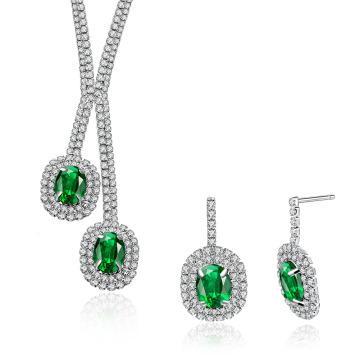Hochzeit Schmuck Sets Cryatal Platinum Halskette und Ohrring