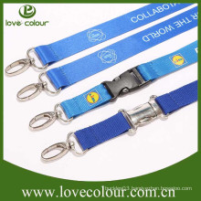 Factory custom fashion lanyards with kinds of accessories for exhibition