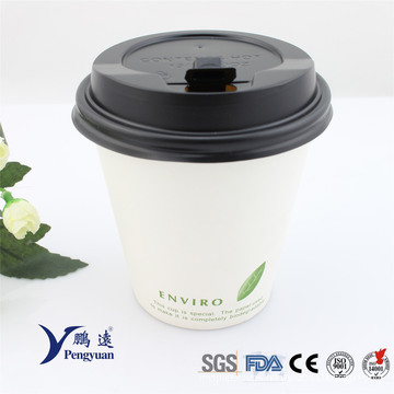 Biodegradable Disposable Airline Paper Coffee Cups 8oz