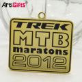 Wholesale custom odm military running sports metal square gold medal hanger