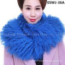 Long Pile Natural Mongolian Fur Scarf Eswj-36A