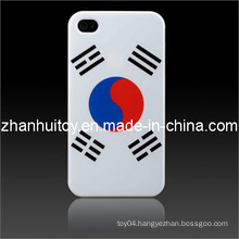 Korean Flag Smooth Plastic Hard Skin Case Cover for iPhone
