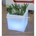 belle couleur changeant conduit pot de fleur carré pour fête, décoration à la maison