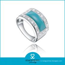 Качественное натуральное бирюзовое кольцо