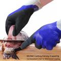Guantes de trabajo resistentes al corte con agua antideslizante de nitrilo arenoso de doble inmersión