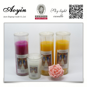 Custom Fragrance Church Use Glass Jar Vela